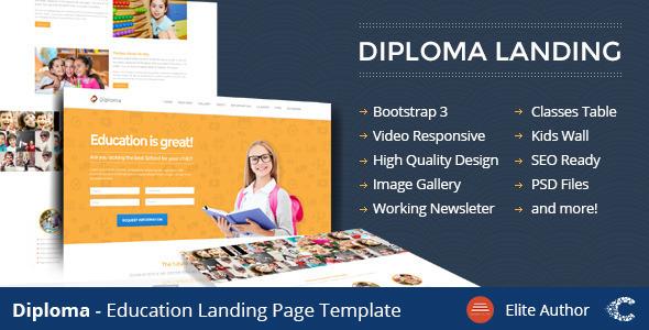 Diploma - Education Bootstrap Responsive Landing