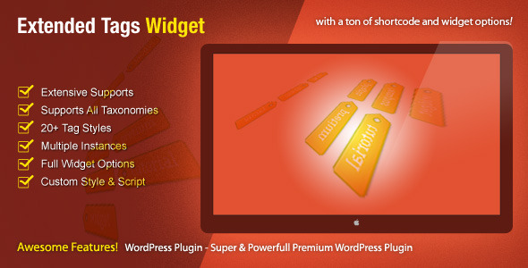 Extended Tags Widget - WordPress Premium Plugin