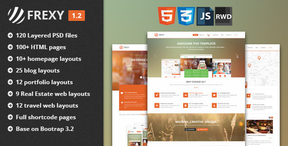 Frexy Responsive Multi-purpose HTML5 Template