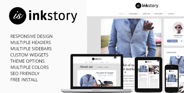 InkStory - Personal, News, Blog WordPress Theme