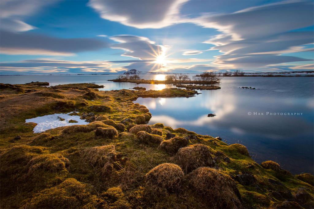 Lake-Myvatn-Sunset