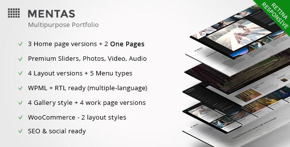 Mentas - Creative Portfolio for Freelancer & Agency