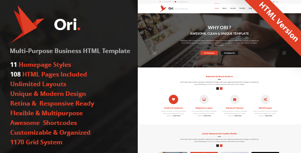 Ori - Multi-purpose Business HTML Template
