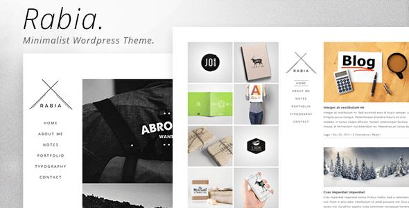 Rabia - Personal Minimalist WordPress Theme