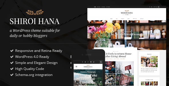 Shiroi Hana - An Elegant Blogging Theme