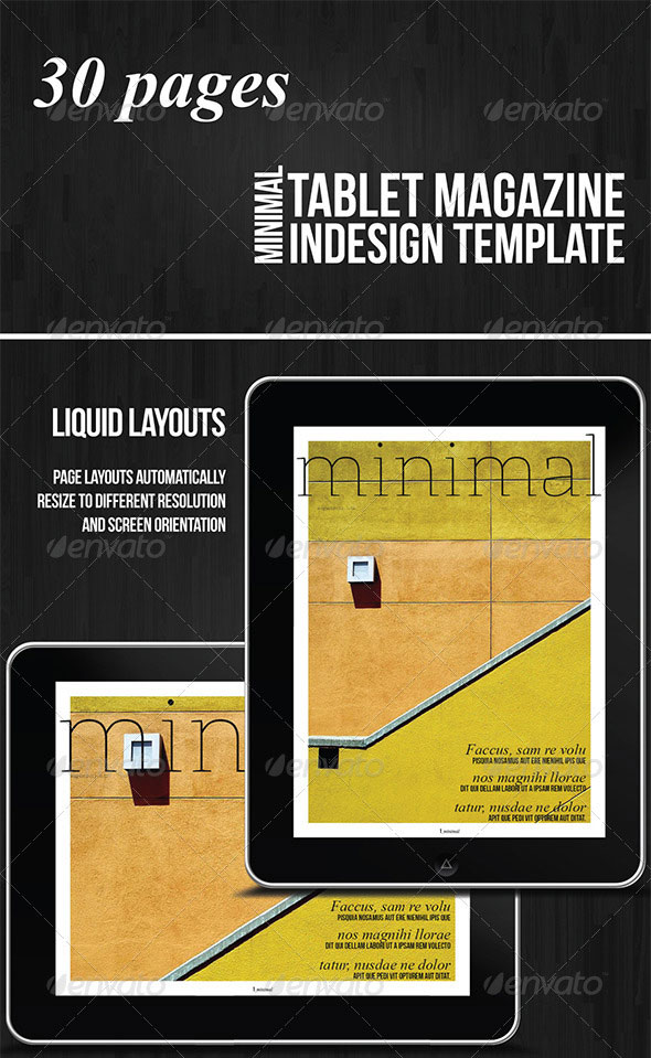 Tablet-30-Pages-Minimal-Magazine