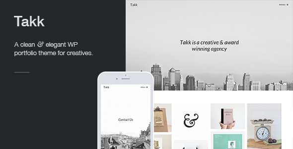 Takk - Retina Responsive WordPress Portfolio Theme