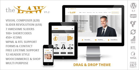 The Law - Lawyer Legal Attorney Responsive WP Theme