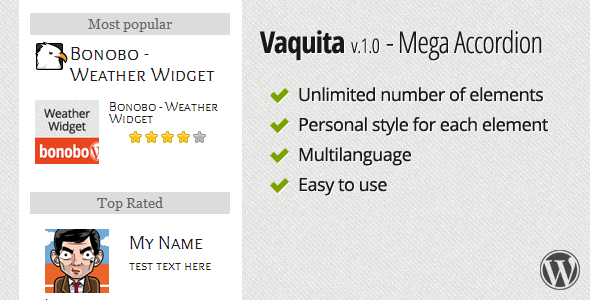 Vaquita - Mega Accordion Widget