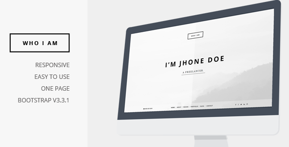 Who I am - Personal Resume and Portfolio Theme