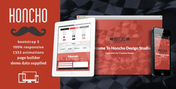 honcho-onepagemultipage-responsive-theme