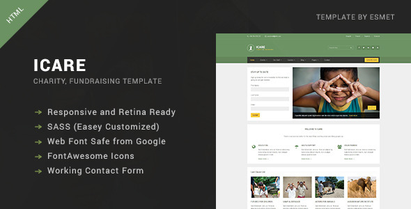 icare-nonprofit-fundraising-html-template
