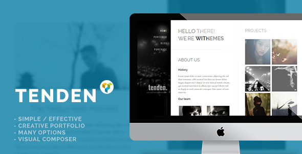 tenden-simple-creative-portfolio-theme