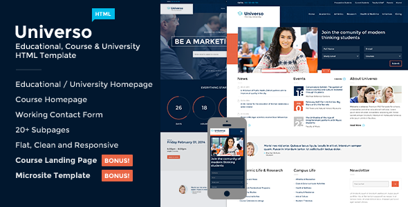 35+ Best Responsive Education HTML Templates 2016