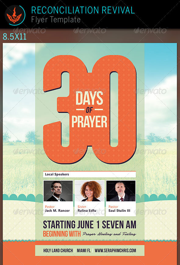 30-days-of-prayer-church-flyer-template