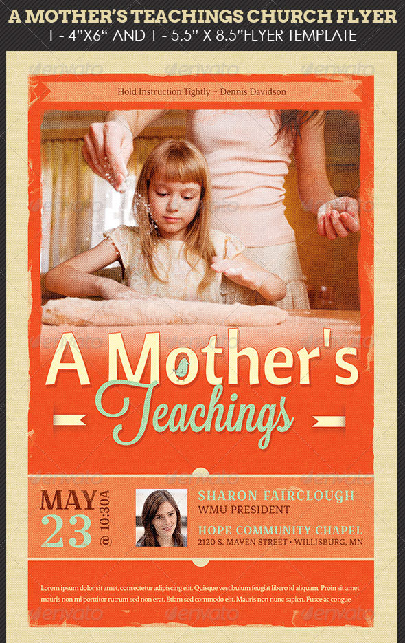 A-Mother's-Teachings-Church-Flyer-Template