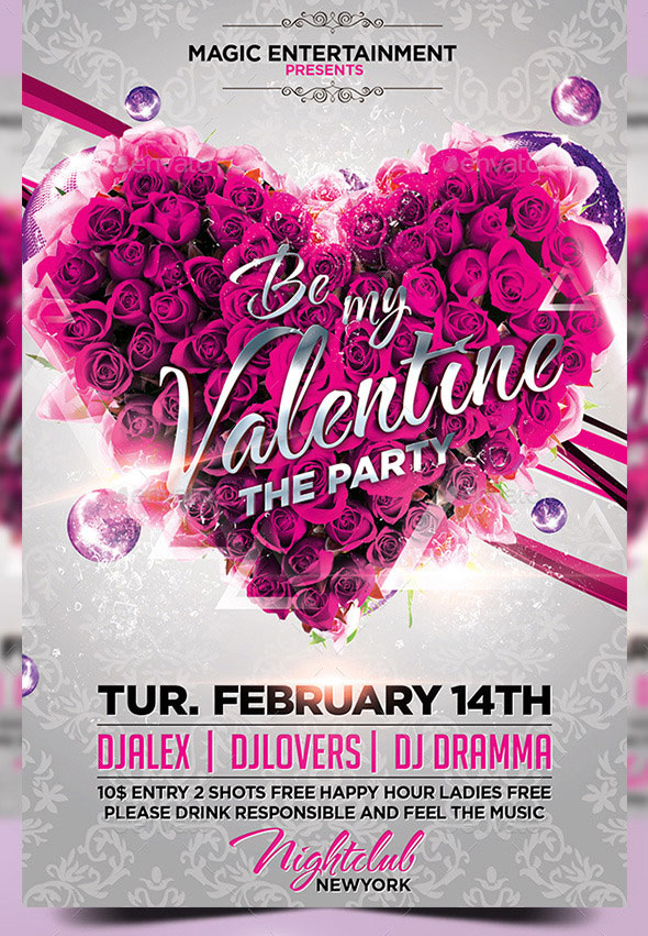 Be-My-Valentine-Flyer-Template