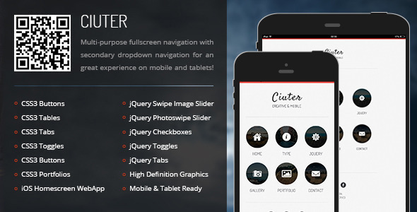 Ciuter-Mobile & Tablet Responsive Template