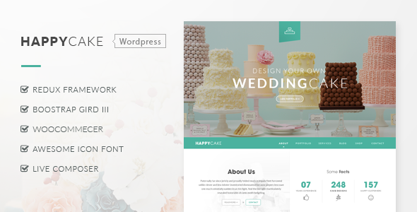 HappyCake - Restaurant WordPress Theme
