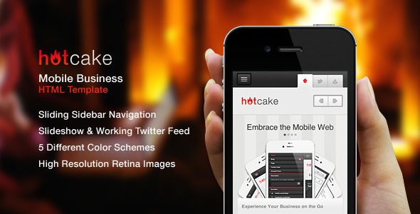 HotCake - Mobile Business HTML Template