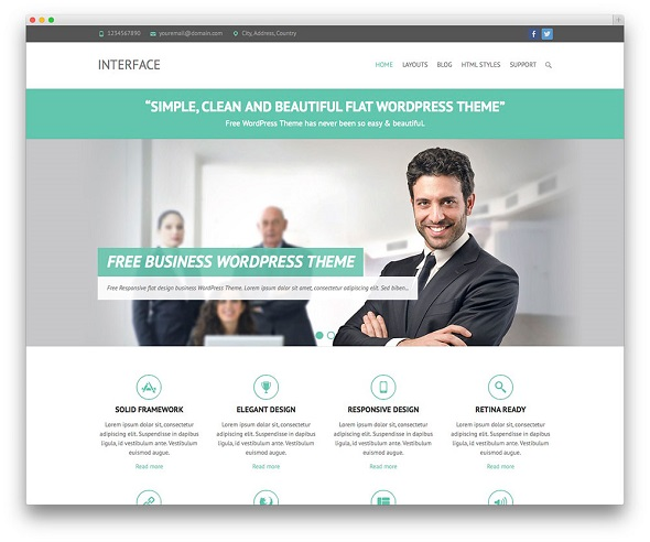 Interface Retina Ready WordPress Theme Free