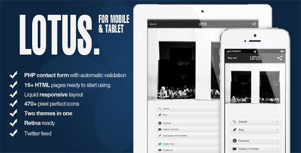 Lotus - Mobile and Tablet -HTML5 and CSS3