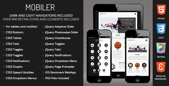 Mobiler - Mobile & Tablet Responsive Template