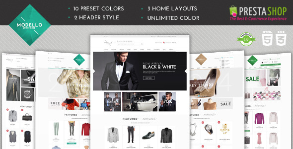Modello - Responsive Fashion Prestashop theme