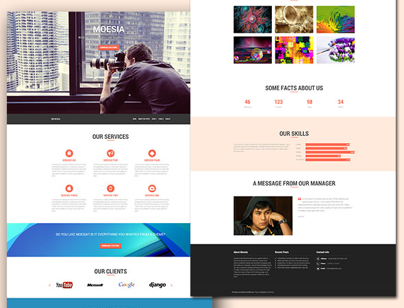 Moesia Business WordPress Theme Free