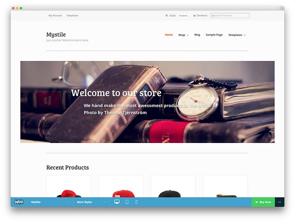 Mystile WooCommerce WordPress Theme Free