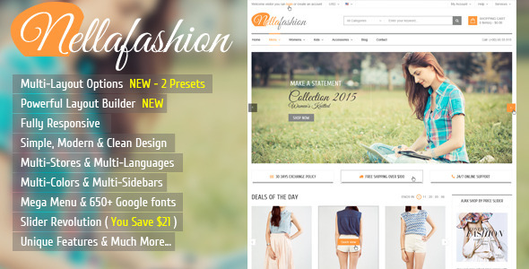 Nella Fashion - Responsive Prestashop Theme