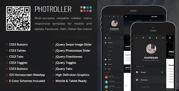 Photroller - Mobile & Tablet Responsive Template