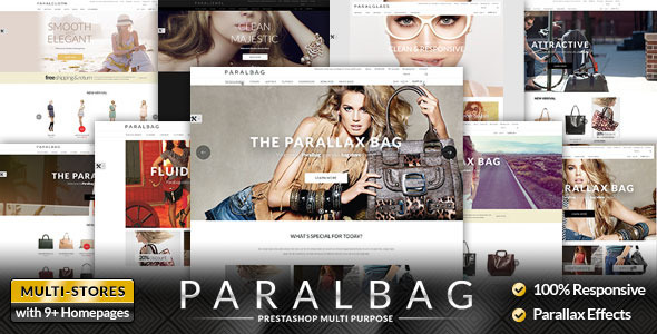 Prestashop Fashion Bag Store - Parallax