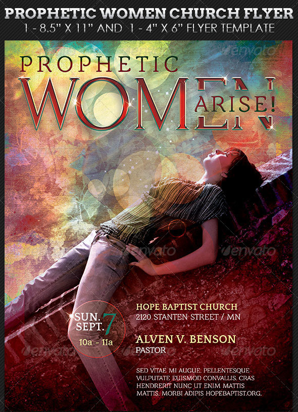 Prophetic-Women-Church-Flyer-Template