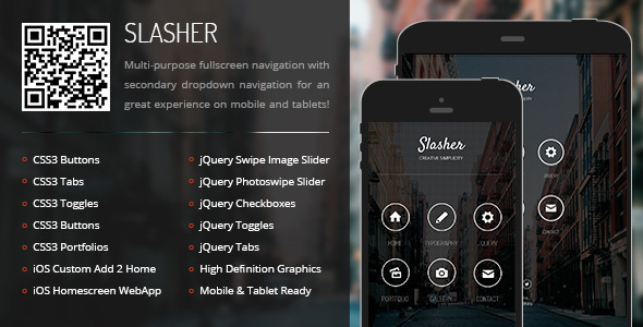 Slasher - Mobile & Tablet Responsive Template