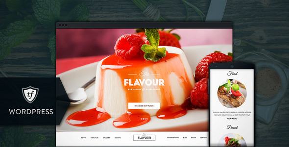Responsive Cafe Restaurant WordPress Themes 2015