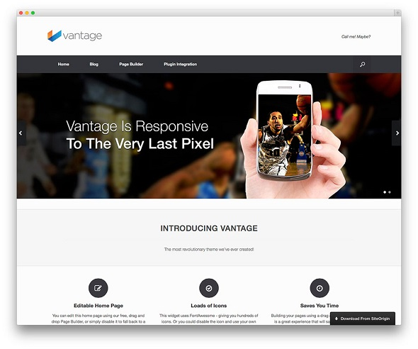 Vantage Multipurpose WordPress Theme Free