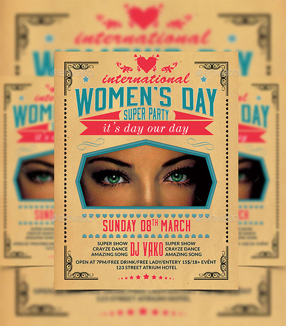 Women's-Day-Party-Flyer