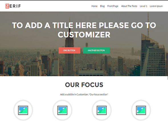 Zerif Lite one page WordPress theme Free