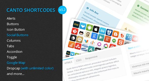 Canto Shortcodes - Premium shortcodes plugin