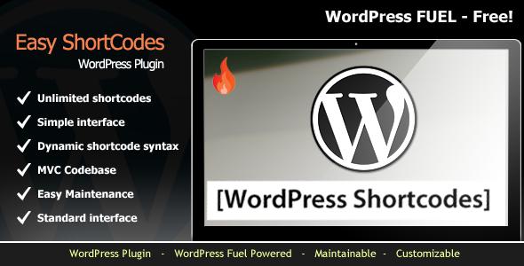 Easy Shortcode Manager for WordPress