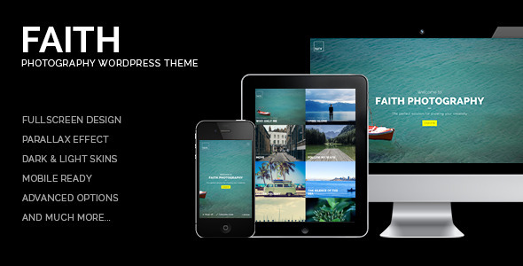 Faith - Photography WordPress Theme