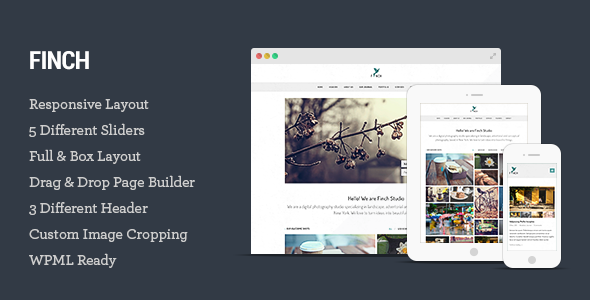 Finch - Photography & Magazine WordPress Theme
