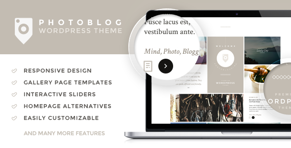 Photoblog - Photography Portfolio and Blog Theme