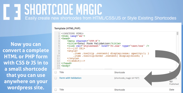 Shortcode Magic for WordPress