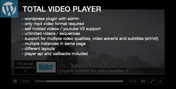 Total Video Player Wordpress Plugin