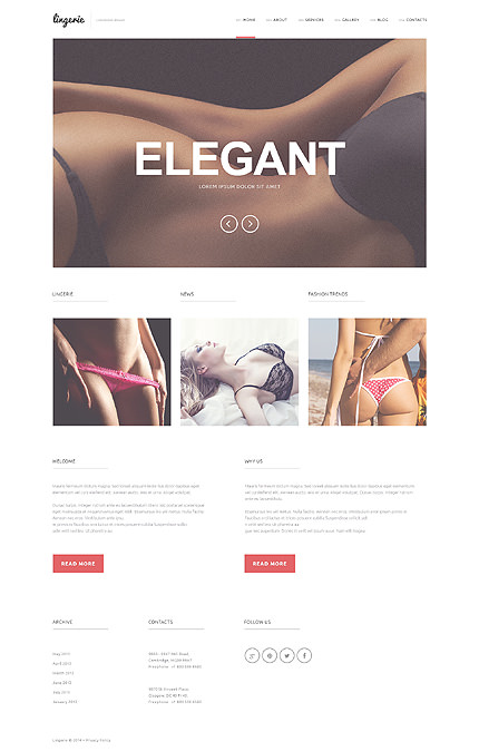 Refined Lingerie WordPress Theme