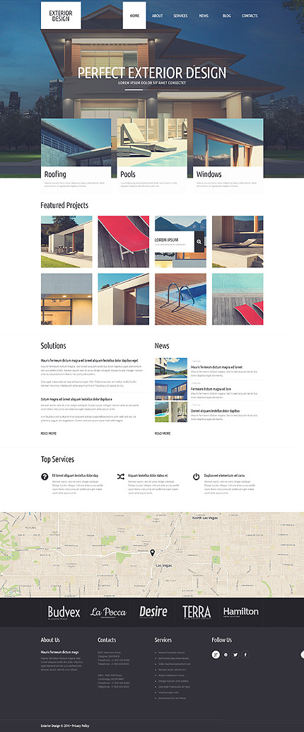 Refined Exterior Design WordPress Theme