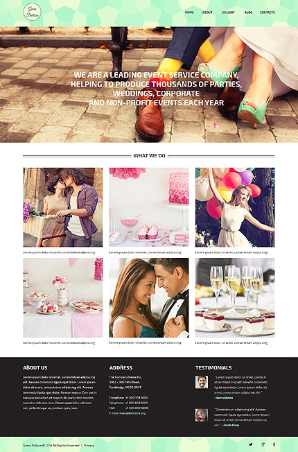 Memorable Events Planner WordPress Theme