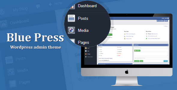 Blue Press - WordPress Admin Theme